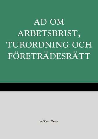 Omslag till AD om arbetsbrist, turordning och företrädesrätt